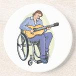 silla de ruedas graphic.png del guitarrista posavasos personalizados