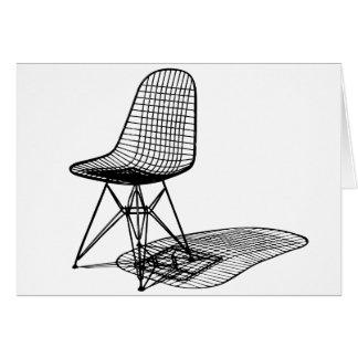 silla del alambre de los eames de Charles Tarjeta