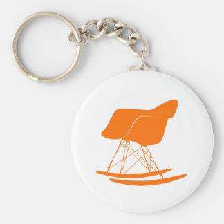 Silla del eje de balancín de Eames en naranja Llavero Personalizado