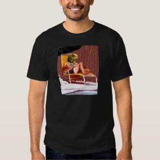 Silla del lagarto de salón camisas