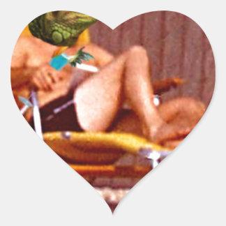 Silla del lagarto de salón pegatina en forma de corazón