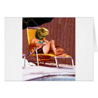 Silla del lagarto de salón tarjeta de felicitación