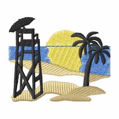 Silla del salvavidas sudadera bordada con capucha y cremallera