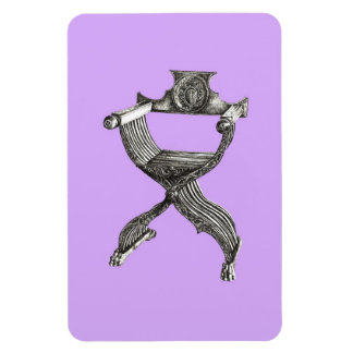 Silla del savonarola de la lila imanes rectangulares