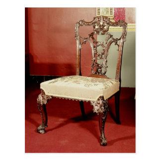"Silla, diseño del ""director"" de Chippendale, c.176 Postal"