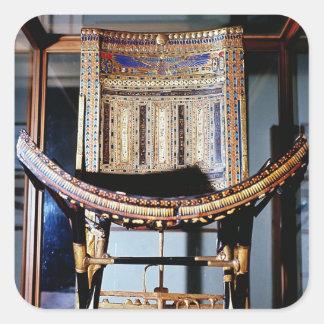 Silla eclesiástica, de la tumba de pegatina cuadrada