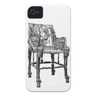 Silla egipcia del trono iPhone 4 Case-Mate protectores