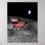 Silla en la luna póster