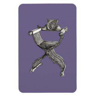 Silla italiana gris de la lila imanes de vinilo