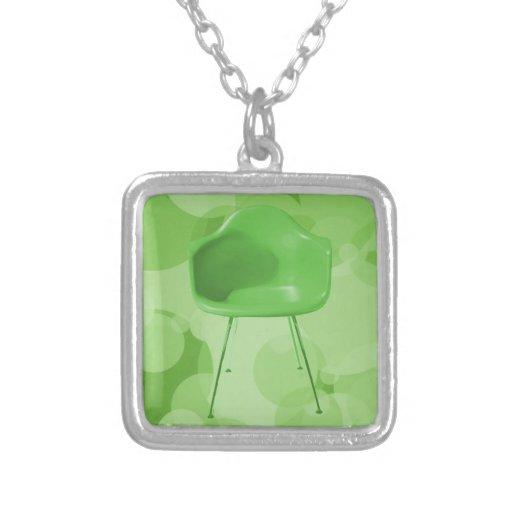 Silla moderna de la verde lima de los mediados de  colgantes