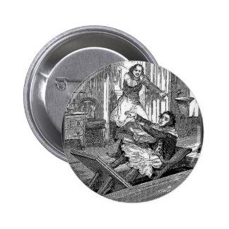 Silla-Penique de los Todd-Peluqueros de Sweeney te Pin Redondo De 2 Pulgadas