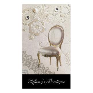 silla rococó París de la lámpara femenina Tarjetas De Visita