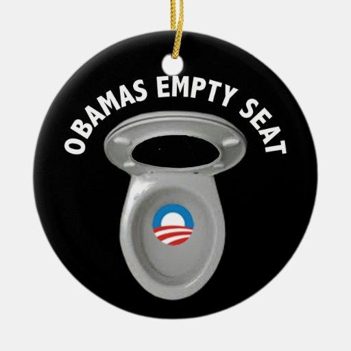 Silla vacía de Obama - asiento de inodoro Ornamento De Reyes Magos