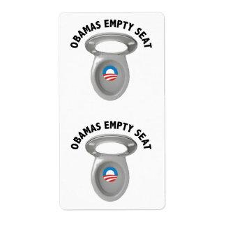 Silla vacía de Obama - asiento de inodoro Etiquetas De Envío