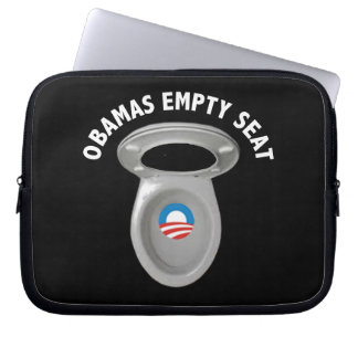 Silla vacía de Obama - asiento de inodoro Funda Ordendadores