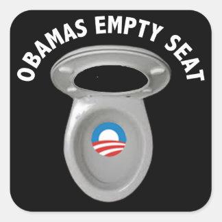 Silla vacía de Obama - asiento de inodoro Pegatinas Cuadradases