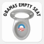 Silla vacía de Obama - asiento de inodoro Calcomanía Cuadradas Personalizadas