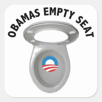Silla vacía de Obama - asiento de inodoro Calcomanía Cuadradase
