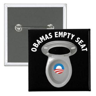 Silla vacía de Obama - asiento de inodoro Pin Cuadrado