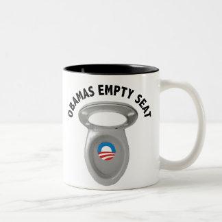 Silla vacía de Obama - asiento de inodoro Tazas De Café