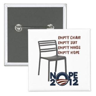 Silla vacía, Obama vacío Pin Cuadrado