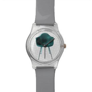 Silla verde oscuro moderna de los mediados de sigl relojes de pulsera