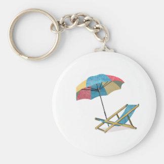 Silla y paraguas de playa llaveros