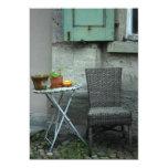 Silla y plantas de la cesta invitación 12,7 x 17,8 cm