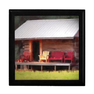 Sillas de Adirondack de la cabina Joyero Cuadrado Grande