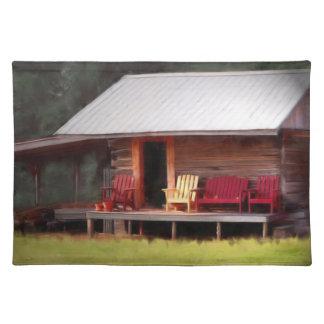 Sillas de Adirondack de la cabina Manteles