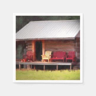 Sillas de Adirondack de la cabina Servilleta De Papel