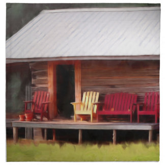 Sillas de Adirondack de la cabina Servilleta Imprimida