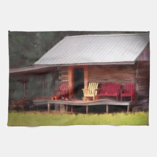 Sillas de Adirondack de la cabina Toallas