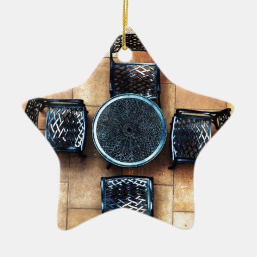 Sillas de jardín adorno navideño de cerámica en forma de estrella