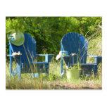 Sillas de jardín de Adirondack Tarjeta Postal