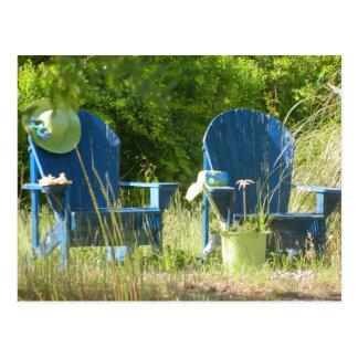 Sillas de jardín de Adirondack Postal