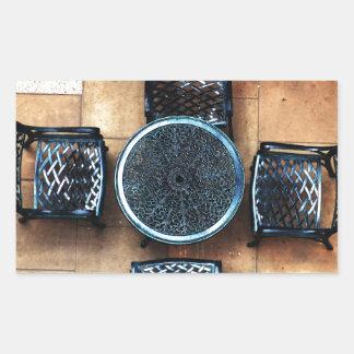Sillas de jardín rectangular altavoces