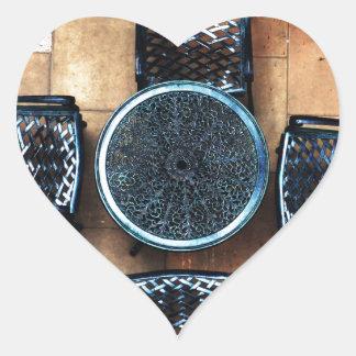 Sillas de jardín pegatina corazon