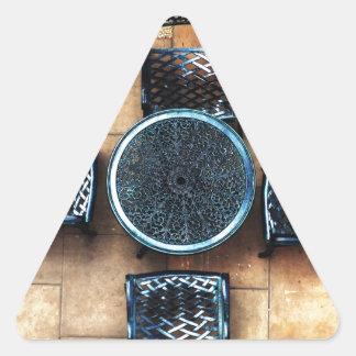 Sillas de jardín calcomanías triangulos personalizadas