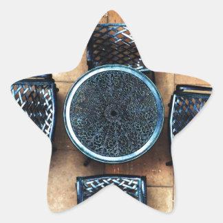 Sillas de jardín pegatinas forma de estrellaes