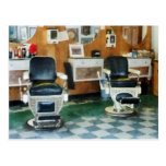 Sillas de la esquina del peluquero dos postal