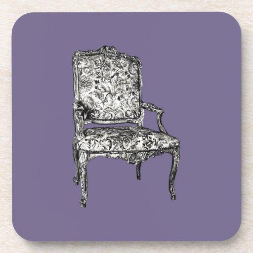 Sillas de la regencia en gris de la lila posavasos de bebida