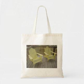 sillas de playa amarillas bolsas de mano