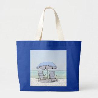 Sillas de playa azules bolsa tela grande