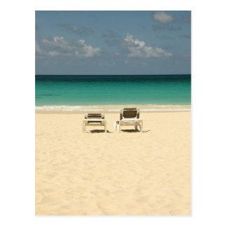 Sillas de playa de la República Dominicana Tarjeta Postal