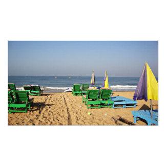 Sillas de playa en la playa Goa la India de Arte Fotografico