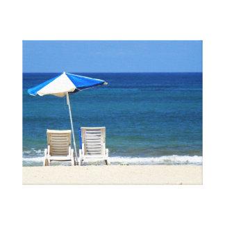 Sillas de playa impresiones en lona estiradas