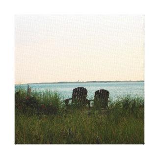 Sillas de playa impresion de lienzo