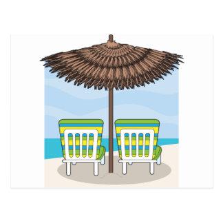 Sillas de playa postal