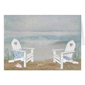 Sillas de playa tarjeta